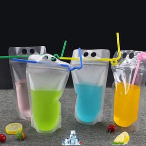 Plastik Fermuar Ambalaj Çantası Temizle Stand-up İçecek İçecek Kahve Plastik Sıfırlanabilir Zip Kilit Kılıfı Gıda Içme Makyaj Saklama Çantası WY1056