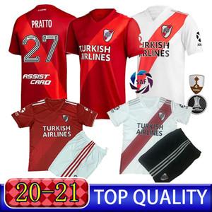 Üst Hayranları 'Nehir Ponzio Sürümü Pratto Futbol Suit 20 21 Nehir Nehir Plaka G.martinez Ev Futbol Suit Özel erkek Futbol Üniforması