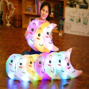 Creative Moon LED Colorful Luminous Doll Luminous Pillow Plush Children Toys Children's Gifts Birthday Gifts Christmas Gifts