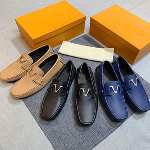 Zapatos de vestir de alta calidad zapatos casuales Pisos de fondo Mocasines de fondo Moda de lujo Botón de metal zapatos zapatos de conducción clásicos para hombres