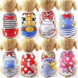 EPACK Cute Pet Dog Clothes Cat T-shirt Vest Small Cotton Puppy Soft Coat Jacket Summer Apparel Extra Small Chihuahua Clothing Costume Pet Su