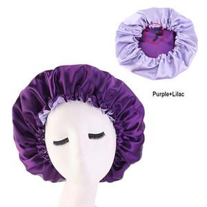 Beanie Skull Caps H:HYDE Muslim Women Night Sleep Cap Satin Elastic Bonnet Hat For Hair Care Head Cover Adjust Loss Beanies Skullies