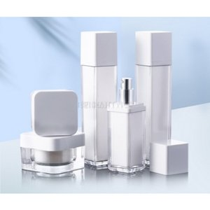 30 50g Acrylic Square Cream Jar Pot 50 100ml Lotion Pump Bottle Perfume Atomizer Spray Cosmetic Container 200pcs Lot