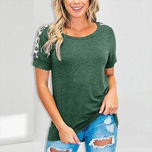 2020 T Shirt Women Leopard Sleeve Top Summer Short Sleeve Casual Female Tops Tee Shirts Women Clothes Summer Tee 3Xl T Shirt