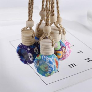 Soft Clay Perfume Bottle Aroma Essential Oil Bottle Women Cosmetic Container Car Hanging Pendant Fast Shipping