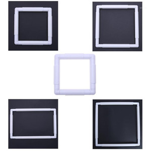 Square Hoop Embroidery Hoop Plastic Frame DIY Cross Stitch Craft Tool1