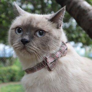 Armingers New Britisch Check Pet Butterfly Band Bell Cat Collar