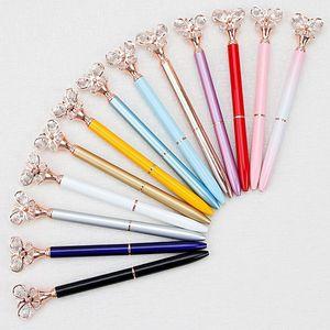 Гель ручки 2021 мода металлическая шариковая ручка творческий имитация алмазная бабочка декоративная офисная школа студенческий канцтовары1