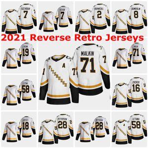 2021 Обратный ретро Питтсбургские пингвины 35 Тристан Джарри Джерси 30 Мэтт Мюррей 12 Патрик Марло 9 Эван Родригес на заказ