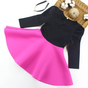 Artishare Bahar Sonbahar Karikatür Baskılı Elbise Uzun Kollu Elbiseler Genç Çocuk Kız Giysileri için 0203