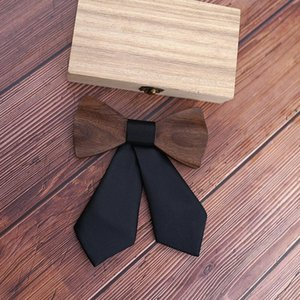 Handmade Wooden Cross Bow Ties For Women Grilfriend Gift Casual Tie Formal Dress Men Wedding Collar With Gift Box Q sqcyxN
