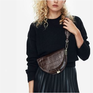 [BXX] New Fashion Women Clothing Half Circle Coverd Pu Leather Trendy One Shoulder Shell Bags WC63701 201128