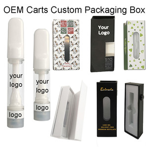 Custom Logo Ceramic Vape Cartridges Empty Vape Pen Vaporizers Packaging Ceramic Coil Carts OEM Oil Atomizers Customized Package Boxes