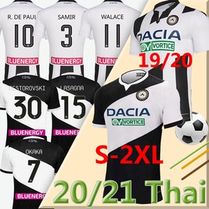 20 21 Maglia Udinese Calcio Soccer Jersey 2020 2021 Home Kit White Blow Black Paul Jankto 2019 Ter Avest Pezzella Bezzella