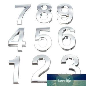 Продажа 5 см 3D цифры 0-9 Номер наклейки пластины знак отель серебристый номер двери доска современного покрытия дома декор