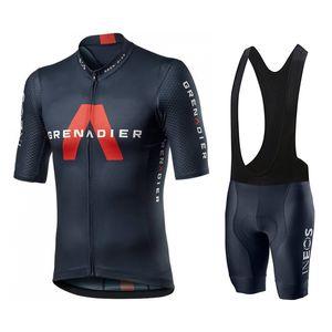 2020 Ineos Grenadier Pro Equipe Homens Ciclismo Jersey Manga Curta Roupas Bicicletas Com Bib Shorts Ropa Ciclismo C0123