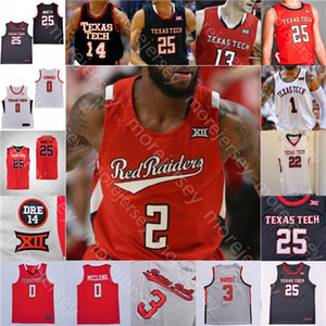 Custom 2021 Texas Tech Basketball Jersey NCAA College Mac McClung Shannon Jr. Nimari Burnett Micah Peacy Chibuzo Agbo Tireek Smith Edwards