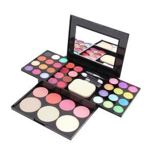 Professional Makeup Sets Shimmer Natural eyeshadow palette Lip Gloss Powder Blusher Puff Cosmetic Mirror set for WomenRabin