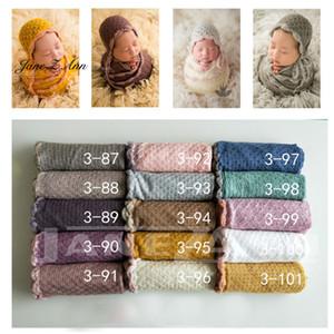 Jane Z Ann Knit Stretch Wraps Baby Wettdrops fondo recién nacido manta + sombrero apoyos fotografía tela