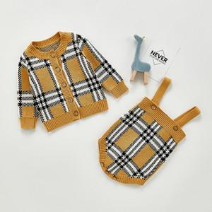 Meninos infantis manta malha roupa de malha crianças luva longa manga longa cardigan suéter + pp shorts 2 pcs conjuntos inglaterra estilo recém-nascido roupa de bebê a5387
