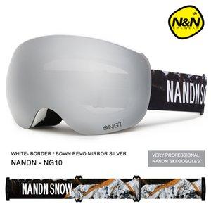 NANDN Ski glasses Goggles Anti fog and UV protection Skiing equipment Q0107