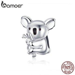 Bamoer Hayvanat Bahçesi Koleksiyonu Koala Panda Ayı Charm Sterling Gümüş 925 Hayvan Metal Boncuk Orijinal Yılan Bilezik Bijoux BSC0931