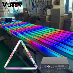 Tubo de píxeles LED 16pcs Luz con controlador de 1pcs SMD5050 RGB / FC LED de alta eficiencia para la luz DJ, luz de la etapa de la luz de la boda
