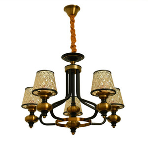 Best Quality New Cheap Gold Copper Color Art Iron Chadelier For Livingroom Home Living Room Decor Pedant Lighting Lamp