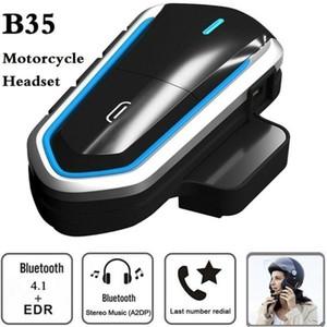 B35 Motorcycle Riders Casque Intercom Intercom Bluetooth 4.1 Kit audio de casque Headphone