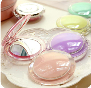Square Makeup Mirrors Portable Mini Cosmetic Mirrors Tin Plate Compact Pocket Small Double-sided Mirror Sweet Simple Acrylic SEA GWC6059