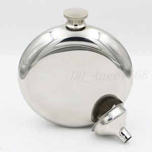 150ml Stainless Steel Hip Flask Portable Outdoor Flagon Silvery Whisky Stoup Wine Pot Alcohol Bottles with Funnel