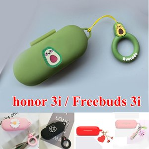 Avocado Cartoon Cases for Huawei Freebuds 3i Case key ring silicone Headphone Case for honor flypods 3i 3 i protection case