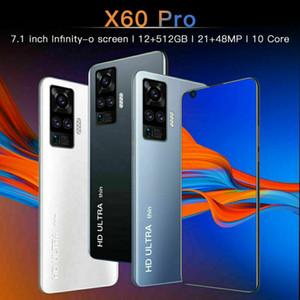 Fast Shipping X60 Pro 7.1inch 12+512GB 50000mAh Android Smartphone 10 Dual SIM 10-Core Wifi Bluetooth Camera Unlocked Cellphone