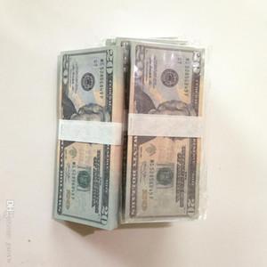 Movie-Prop-Banknote 20 50 100Dollar-Spielzeug-Währung Party-Party Fake Geld Kinder Geschenk Spielzeug US-Banknote 10