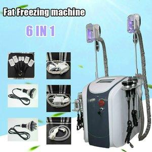 6 في 1 Cryolipolysis Machine Cryo Fat Freezing 3 مقابض العمل معا Cryolipolisis المضادة للسيلوليت التخسيس الجسم