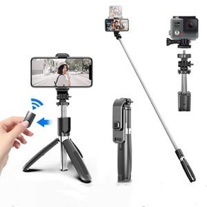 L03 Trépied Alliage Alliage Selfie Sticky Rechargeable pliable avec Bluetooth Remote pour les appareils de caméra Smartphone Titulaire de la vente au détail