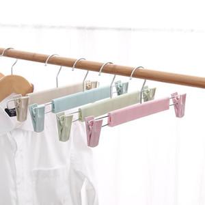 50 pcs Cabide Preto Plástico para Lingerie Underwear Anti-Skidding Calças de Roupas Skirt Gancho de Cabide Rack DHB3923