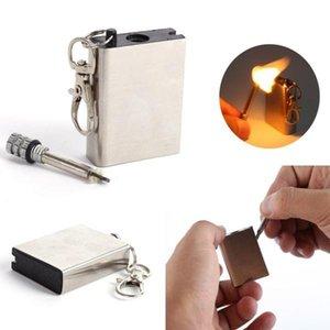 Fire Starter Tool Flint Stone Metal Match Outdoor Lighter Gas Cigar Firesteel Camp Hike Cigarette Travel Oil Magnesium Survive jllFba