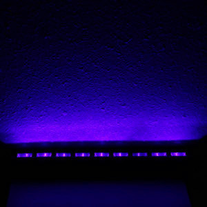 Hot selling AC90V-240V 27W 9 LEDs Purple Brand new and high quality Lights Wedding Party Stage Lamp Black