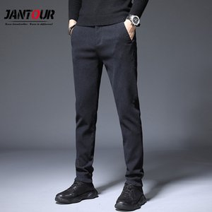 Jantour Brand Men Pants Casual Mens Business Male Trousers Classics Mid weight Straight Full Length Fashion Pant man size 36 38 Y1113