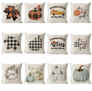 Halloween Pillow Case Pumpkin Sofa Throw Pillow Cover Printed Pillow Covers Plaid Pillows Cases Pillowslip Car Office Home Decor SEA BWC4220