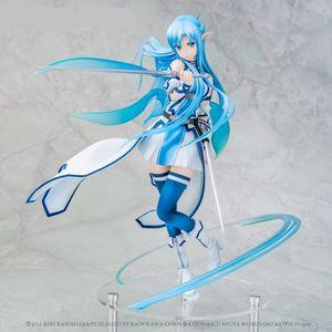 Anime Sword Art Online Asuna Yuuki Water Water Spirit Kirito Asuna Рисунок ПВХ Действие Рисунок Коллекция Модель Детская Игрушка для детей Подарки X0121