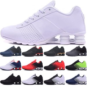 SHOX 809 Correndo Tênis Mens Trainers Triple Preto Branco Vermelho Vermelho Homens Verdes Mulheres Sneakers Sports Tamanho 36-45