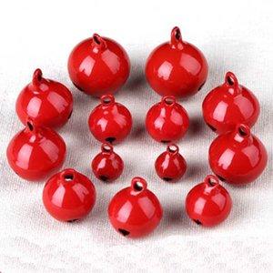 100pcs lot Red Copper Jingle Loose Beads Christmas Pet Bells Party Decoration Pendants DIY Crafts Y1125