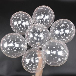 10pc 12 inch 2.8g Balloons Transparent Ballon Latex Helium Balloon Happy Birthday Clear Stars Thick Ballon Party Decor Supplies