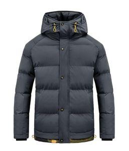Fashion Men's Jacket Winter Thick Hooded Coat Men's Windproof Outdoor Clothes Men Parker Coats