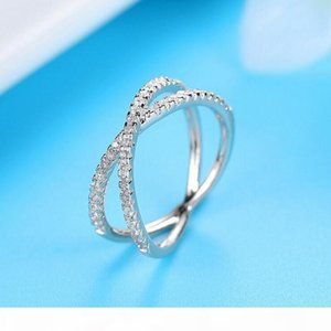 K Classical Handamde Fashion Jewelry Real 100 %925 Sterling Silver Cute 5a Cubic Zirconia Eternity Ring Party Wedding Engagement Band R
