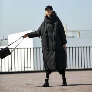Aigyptos Invierno Mujeres gruesa cálida sobredimensionada cubierta de sobredimensión diseño original ocasional ultra suelto negro x-largo camuflaje chaqueta abrigo