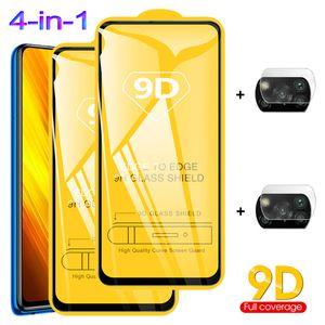 Poco X3, vidrio templado para POCO X3 NFC Vidrio Pocofone F2 Pro Protección de cámara Poko F2 Pro Xiaomi Poco X3 Protector de pantalla
