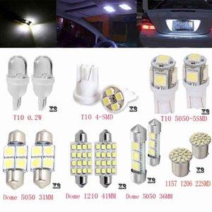 14 قطع مصابيح سيارة LED T10 5050 5SMD T10 1206 8SMD 3528 12SMD31MM أضواء الفرامل الأبيض